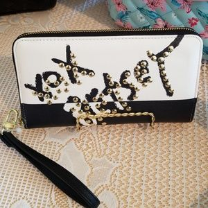 Clearance Betsey Johnson xox wallet with strap